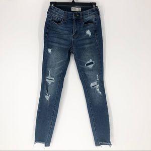 Mudd FLX Stretch 3 Distressed Stretch Skinny Jeans